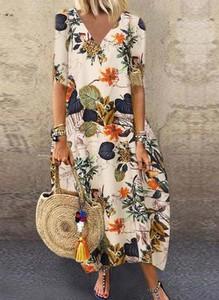 Sukienka Cikelly z długim rękawem koszulowa