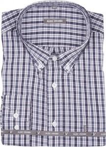 Koszula Aldo Vrandi z bawełny z długim rękawem z kołnierzykiem button down