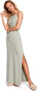 Zielona sukienka Merg na ramiączkach maxi