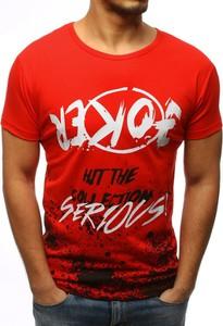 Czerwony t-shirt Dstreet w młodzieżowym stylu z bawełny