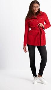 Czerwona kurtka Lavard krótka w stylu casual
