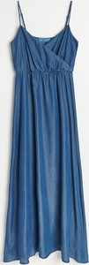 Granatowa sukienka Reserved na ramiączkach maxi