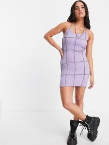 Fioletowa sukienka The Ragged Priest mini na ramiączkach