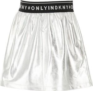 Srebrna spódniczka dziewczęca DKNY