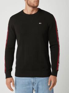 Czarny sweter Tommy Jeans z dzianiny