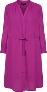 Fioletowa sukienka Selected Femme oversize z długim rękawem