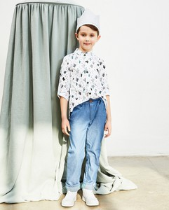 Koszula dziecięca Banana Kids w groszki z tkaniny