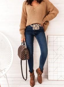 Niebieskie spodnie SELFIEROOM w stylu casual z jeansu