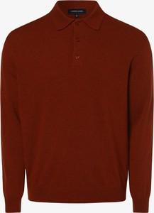Pomarańczowy sweter Andrew James z kaszmiru