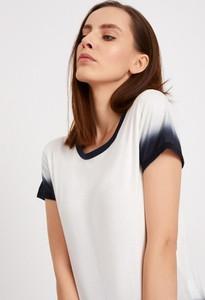 Bluzka Diverse z okrągłym dekoltem w stylu casual z krótkim rękawem