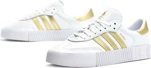 Trampki Adidas ze skóry sznurowane