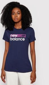 T-shirt New Balance z krótkim rękawem z okrągłym dekoltem