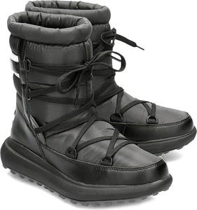 Buty zimowe Helly Hansen sznurowane ze skóry ekologicznej