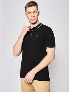 Czarny t-shirt Emporio Armani z krótkim rękawem