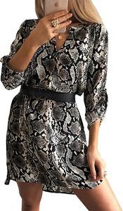 Brązowa sukienka Snm w stylu casual