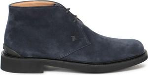 Granatowe buty zimowe Tod's sznurowane