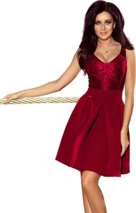 Czerwona sukienka Moda Dla Ciebie rozkloszowana