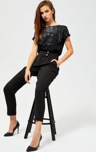Bluzka Moodo w stylu casual z bawełny z krótkim rękawem