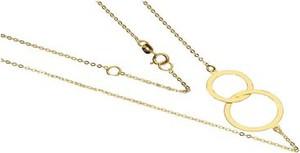 Lovrin Złoty naszyjnik 333 łańcuszek z kółeczkami 44 cm