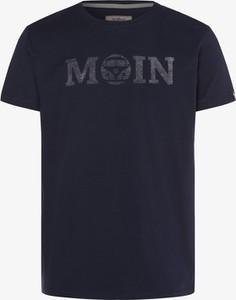 Granatowy t-shirt Van One Classic Cars z krótkim rękawem