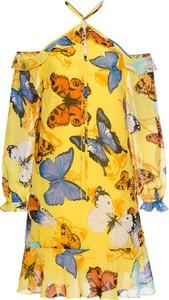 Żółta sukienka bonprix bodyflirt boutique mini