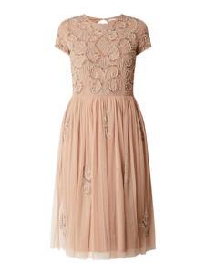 Sukienka Lace & Beads z okrągłym dekoltem z tiulu