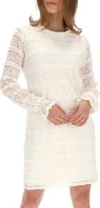 Sukienka Desigual z okrągłym dekoltem z długim rękawem