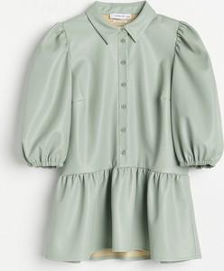 Bluzka Reserved ze skóry z długim rękawem