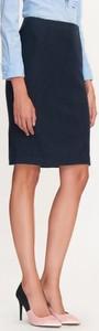 Granatowa spódnica tatuum midi z wełny