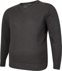 Czarny sweter Bigsize w stylu casual