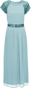 Niebieska sukienka bonprix BODYFLIRT maxi