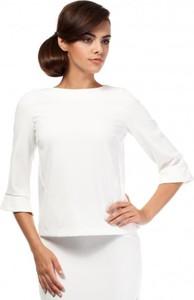 Bluzka MOE w stylu casual z długim rękawem z okrągłym dekoltem