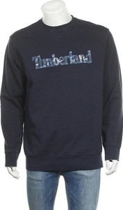 Niebieska koszulka z długim rękawem Timberland z długim rękawem w młodzieżowym stylu