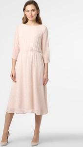 Sukienka comma, z długim rękawem rozkloszowana midi