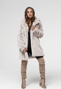 Płaszcz Smoke w stylu casual ze skóry ekologicznej