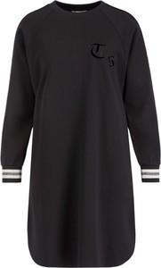 Czarna sukienka Twinset sportowa z długim rękawem