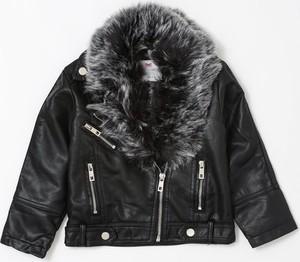 Czarna kurtka dziecięca born2be dla dziewczynek