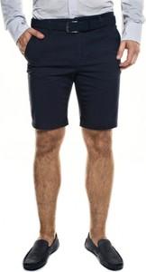 Granatowe spodnie Recman w stylu casual