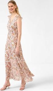 Sukienka ORSAY maxi z dekoltem w kształcie litery v z szyfonu