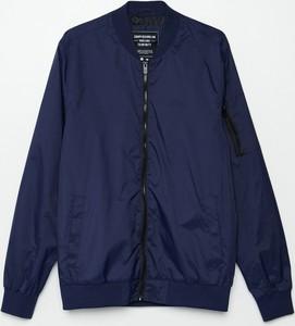Granatowa kurtka Cropp krótka w stylu casual