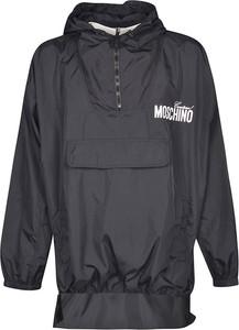 Czarny płaszcz męski Moschino