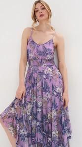 Sukienka Sinsay maxi z dekoltem w kształcie litery v