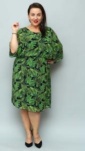 Sukienka KARKO z okrągłym dekoltem z szyfonu w stylu casual