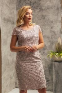 Sukienka Risca mini z krótkim rękawem