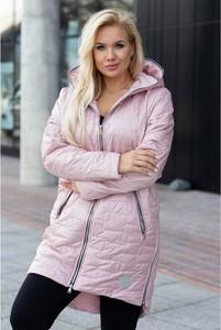 Różowa kurtka Sklep XL-ka długa