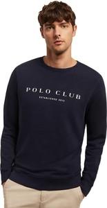 Czarna bluza Polo Club w młodzieżowym stylu z bawełny