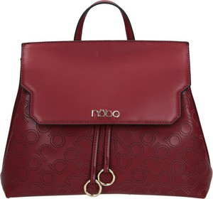 Czerwona torebka NOBO z breloczkiem średnia matowa