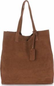5ca441ca68a27 Pojemnie torebki skórzanej z wysokiej jakości zamszu naturalnego vittoria  gotti rude