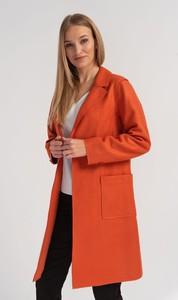 Pomarańczowy płaszcz Cotton Club w stylu casual