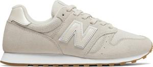 Buty sportowe New Balance sznurowane 373 z zamszu
